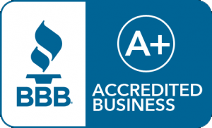 Better Business Bureau Accredited A plus rating